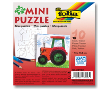 [Vyfarbi si puzzle - Traktor]