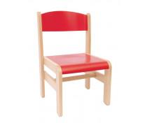 [Dřevěná židle Extra BUK červená - 26 cm]