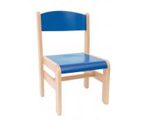 [Drevená stolička  Extra BUK modrá - 26 cm]
