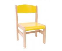 [Drevená stolička  Extra BUK žltá - 26 cm]
