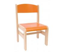 [Dřevěná židle EXTRA BUK oranžová - 26 cm]