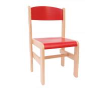 [Drevená stolička Extra BUK - červená - 35 cm]