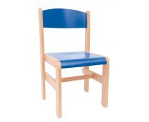 [Drevená stolička BUK Extra - modrá - 35 cm]