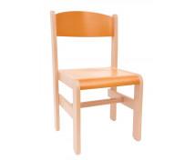 [Dřevěná židle Extra BUK oranžová - 35 cm]
