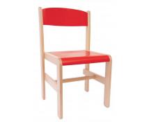 [Dřevěná židle Extra BUK červená - 38 cm]
