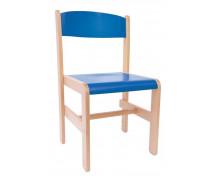 [Dřevěná židle Extra BUK modrá - 38 cm]