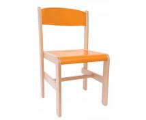 [Dřevěná židle Extra BUK oranžová - 38 cm]