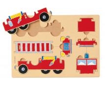 [3D Skladačka - Požiarnícke auto]