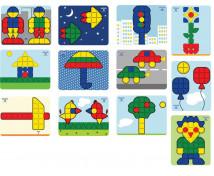 [Mozaika Super hříbky - Vzorové karty 2]