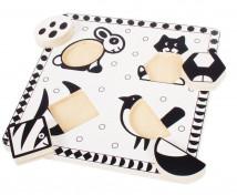[Čierno - biele puzzle - Zvieratká 2]