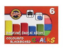 [Kriedy farebné štvorcové, 6 farieb]
