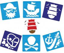 [Šablóny - Piráti, sada 6 ks]