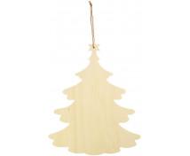 [Drevená závesná dekorácia - Vianočný stromček]