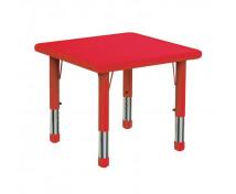 [Plastová stolová deska - čtverec - červená]