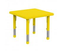 [Plastová stolová deska - čtverec - žlutá]