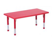 [Plastová stolová deska - obdélník - červená]