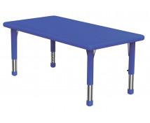 [Plastová stolová deska - obdélník - modrá]