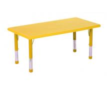 [Plastová stolová deska - obdélník - žlutá]