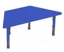 [Plastová stolová deska - lichoběžník - modrá]