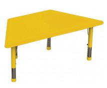[Plastová stolová deska - lichoběžník - žlutá]