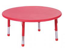 [Plastová stolová doska - kruh - červená]