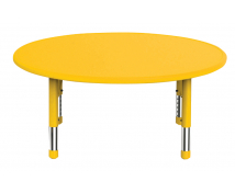 [Plastová stolová deska - kruh - žlutá]