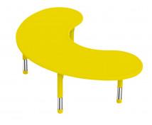 [Plastová stolová doska - polmesiac - žltá]