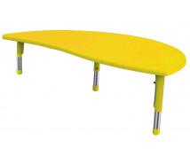 [Plast.stol.doska - nepr.polkr. žltý]