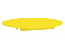 [Farebná stolová doska - kruh 125 - žltá]