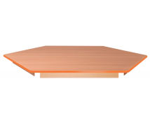 [Stolová deska - šestiúhelník 80 - oranžová]
