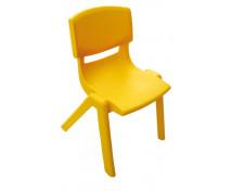 [Stolička plast. 38 cm žltá]