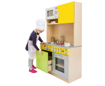 [Elegantná kuchynka DUO - Zeleno-žltá]