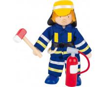 [Drevené bábiky - profesie - Požiarnik]