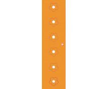 [Dvere Malé - MDF - kvety - oranžové]