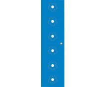[Dvere Malé - MDF - kvety - modré]