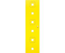 [Dvere Malé - MDF - štvorce - žlté]