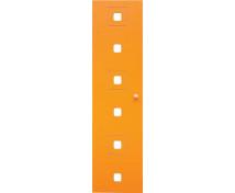 [Dvere Malé - MDF - štvorce - oranžové]