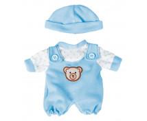 [Oblečenie pre bábiky - 21 cm - Modré dupačky s čiapkou]
