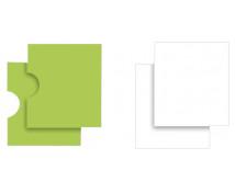 [Sada dvířek a poliček na stolek na hry - zelené dvířka + bíle poličky]