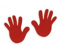 [Červená dlaň - sada 2 ks]