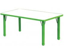 [Stôl s Noh.i pre dosp. Obdĺž.-zelený]