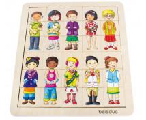 [Priraďovacie puzzle -  Deti rôznych kútov sveta]