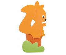 [Špagátová nástenka - Veverička (51 x 95 cm)]