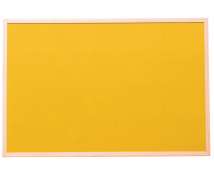 [Korková tabuľa far.1 60 x 90 cm - Žltá]