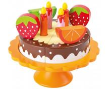 [Drewniany tort urodzinowy]