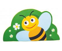 [Aplikacja ścienna z pianki - duża - Pszczółka (60 cm)]