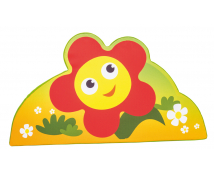 [Aplikacja ścienna z pianki - duża Kwiatek (63 cm)]