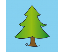 [Vankúšik s motívom - Ihličnatý strom]