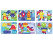 [Mozaika - Vzorové karty - Roboti - Ø 15 mm]