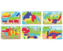 [Mozaika - Vzorové karty - Dinosaury - Ø 20 mm]